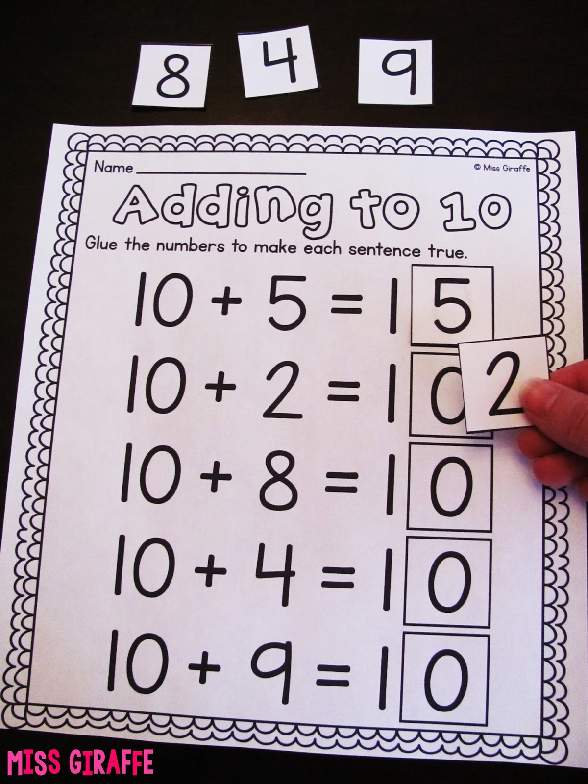 hight resolution of Miss Giraffe's Class: Making a 10 to Add