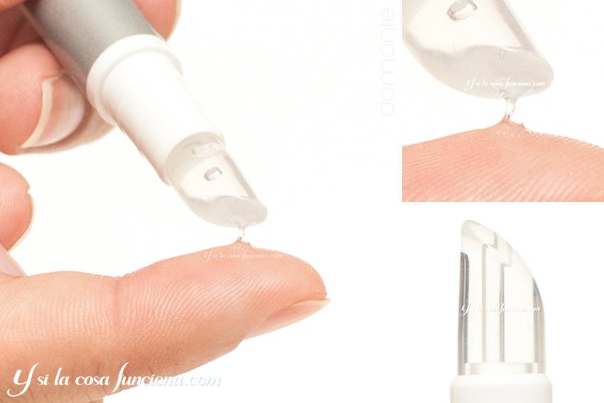Swatch textura aplicador lavable URGO Spots Filmogel