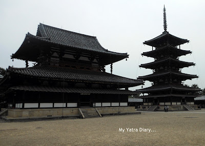 The Sai-in western part of the Horyu-ji Temple, Nara - Japan