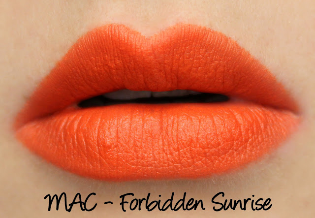 MAC Forbidden Sunrise lipstick swatches & review