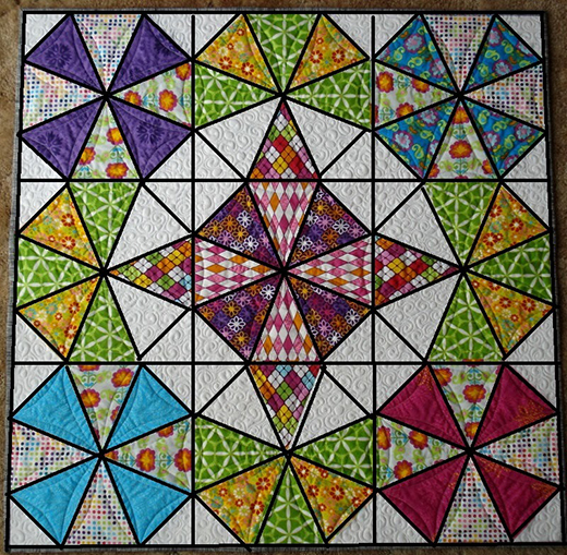 How To Make Diamond Star Halo Quilt