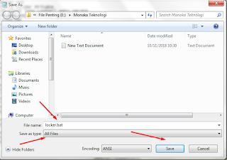 cara mengunci folder di windows 7 tanpa software