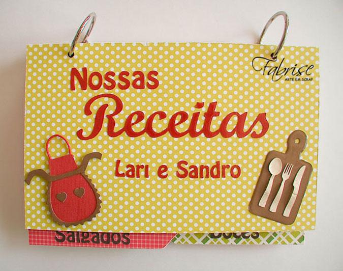 Caderno de Receitas Personalizado – Nossas Receitas Lari e Sandro