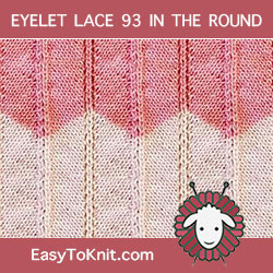 Chevron and Feather #LaceKnitting - Easy To Knit in the round