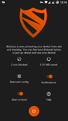 تطبيق BLOKADA لحجب الإعلانات  بدون روت