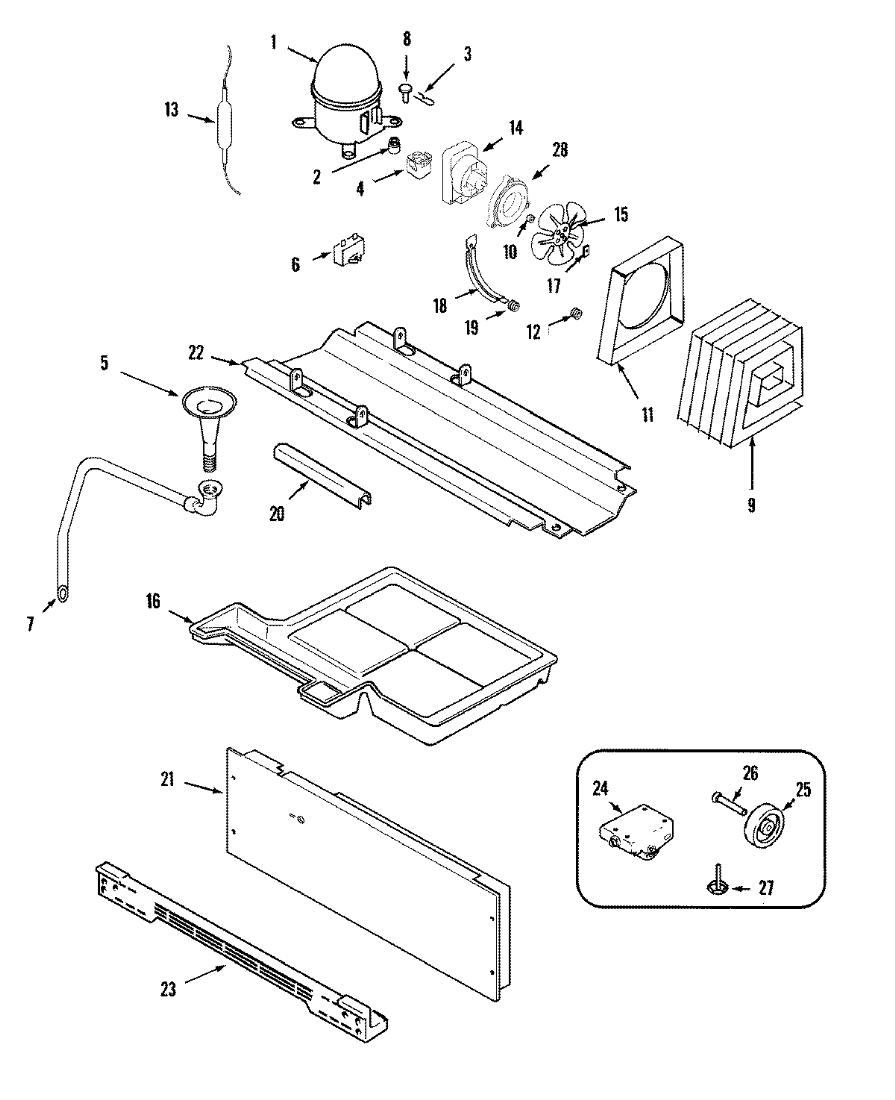 Ice Maker Parts Diagram On Amana Fridge Parts Defrost Timer Diagram