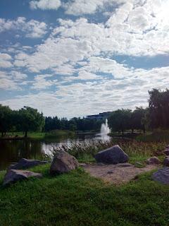 lac du parc Jarry l'été