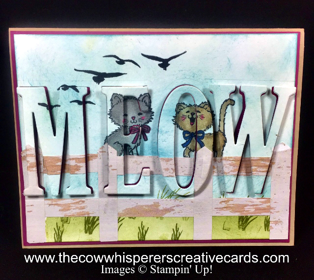 Card, Eclipse, Pretty Kitty, Stampin Blends, Classic Label Punch