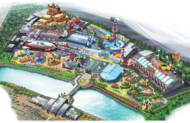 Map of Movie Animation Park Studios Perak