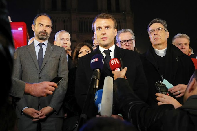 Notre-Dame cathedral: Macron pledges reconstruction after fire