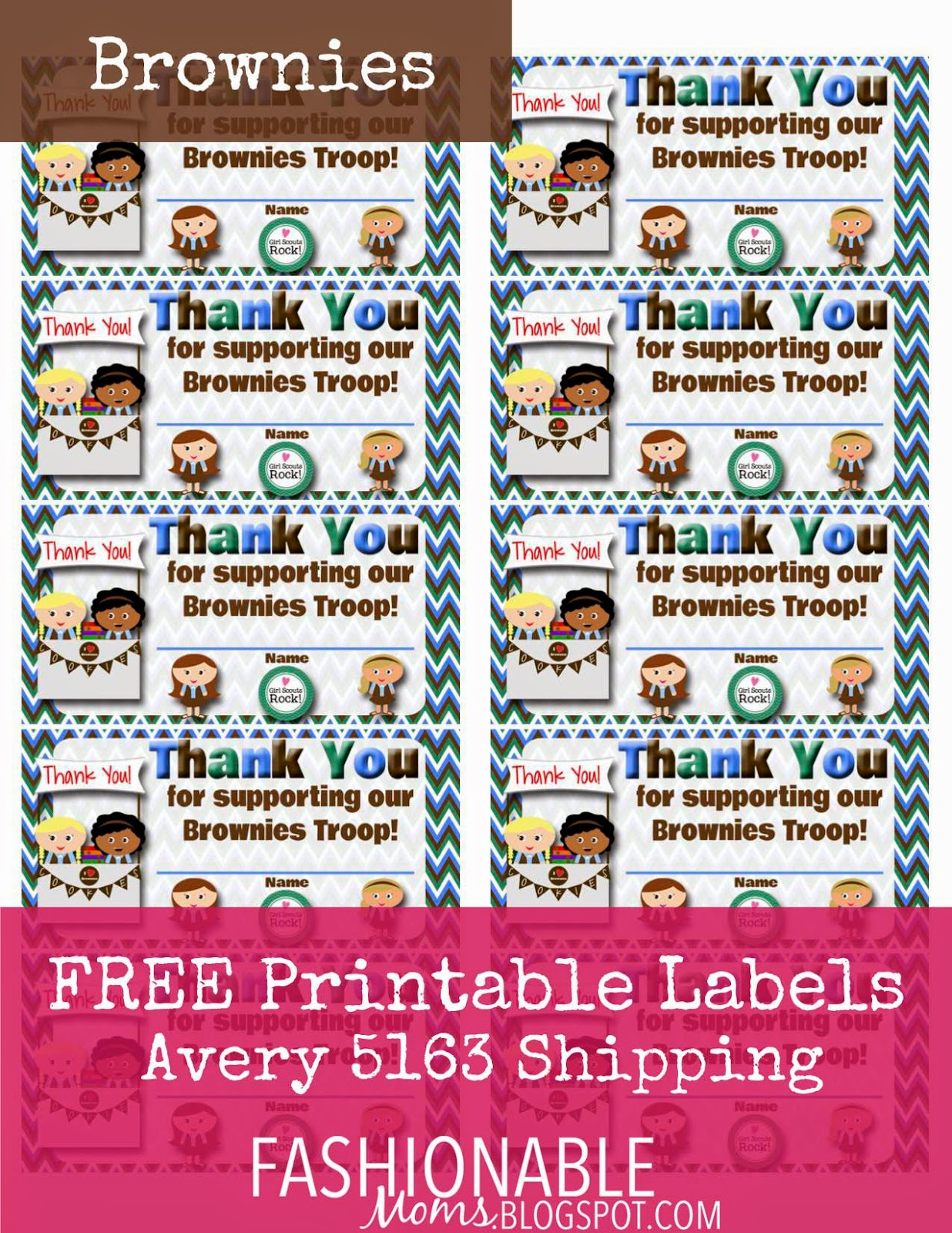 image about Girl Scout Cookie Thank You Notes Printable named My Modern Strategies: January 2015