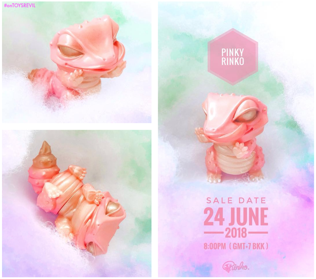 6b9cb64e193 Pre-order begins June 24th (@ 8pm GMT+7 BKK) for the featured and adorable  PINK GOLD Version of RINKO the collectible ...