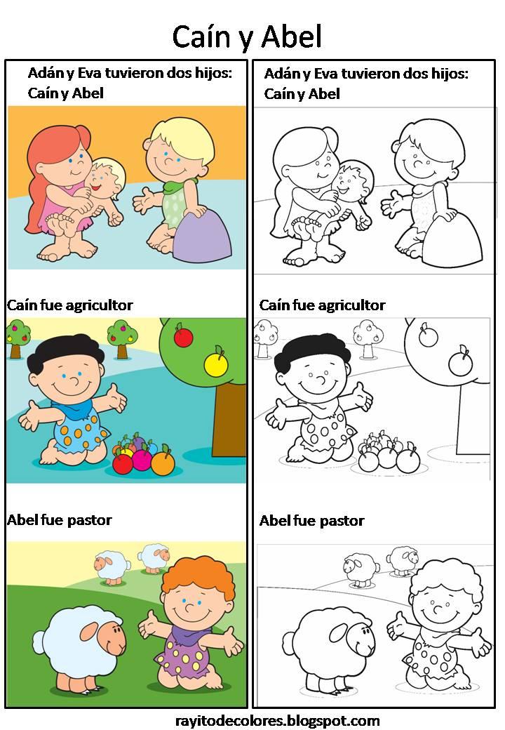 Dibujos de Caín y Abel