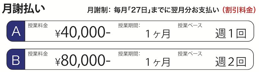 [授業1回1万円] × [授業回数]