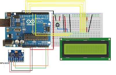 Arduino Spirit Level with LCD