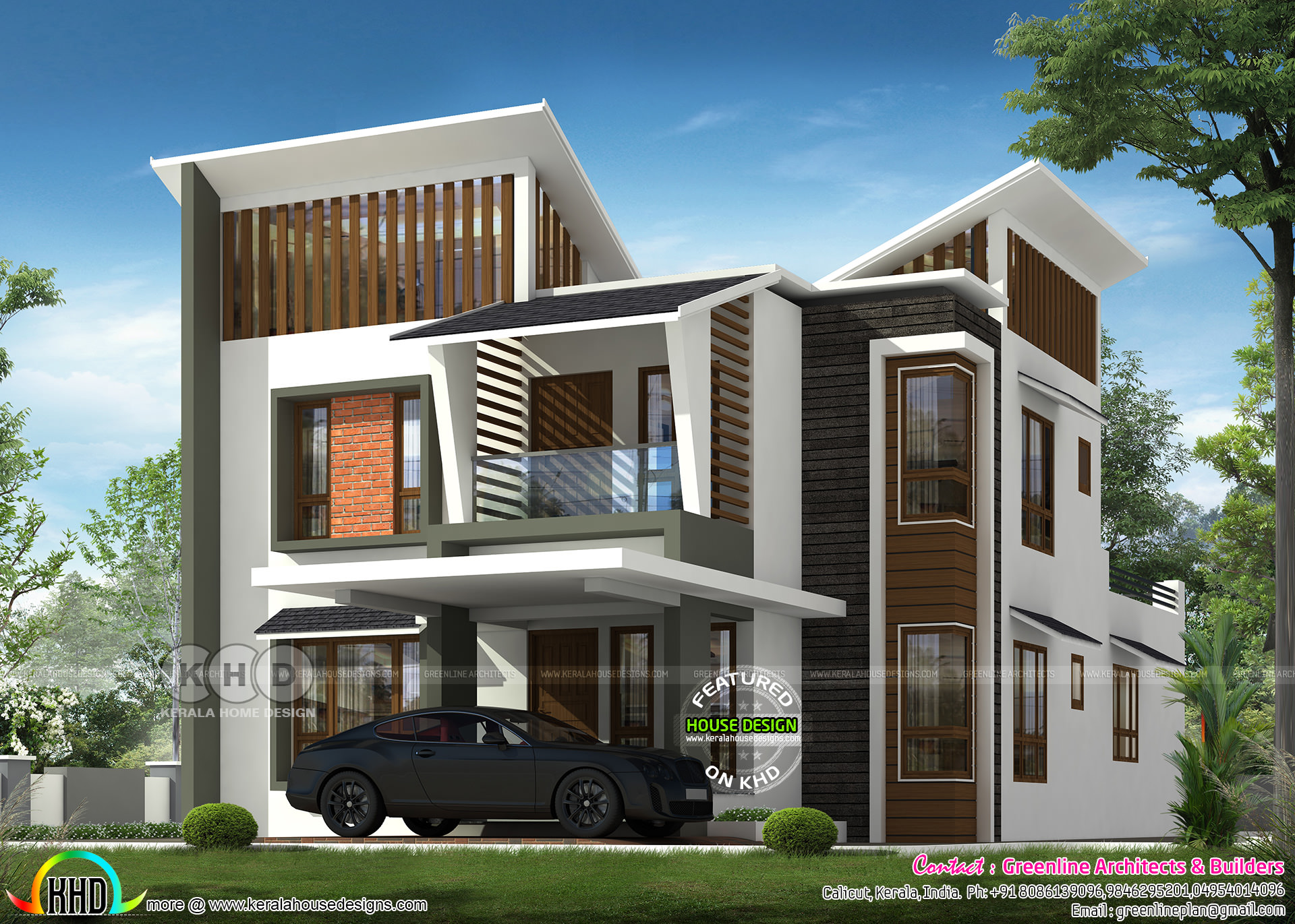 2200 square feet 4 bedroom modern home plan - Kerala home ...