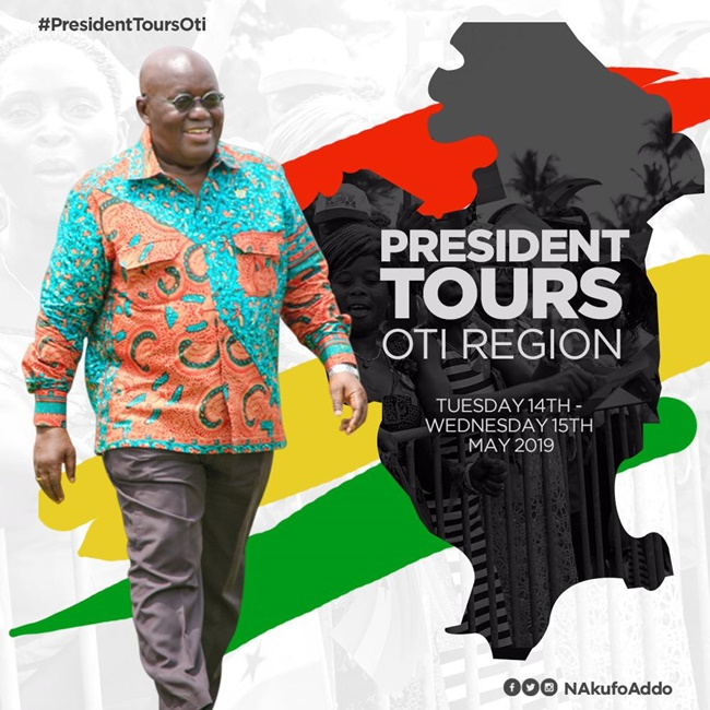 President Akufo-Addo Tours Oti, North East and Savanna Regions