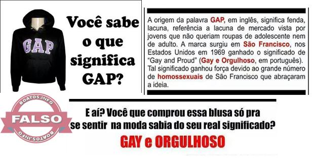 Será verdade que a marca GAP significa Gay e Orgulhoso?