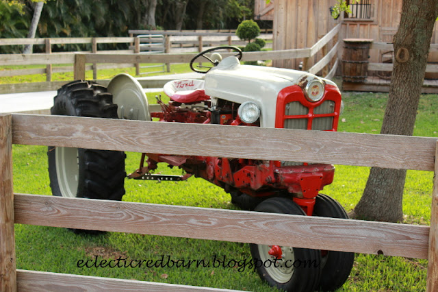 Eclectic Red Barn: Vintage Ford Tractor