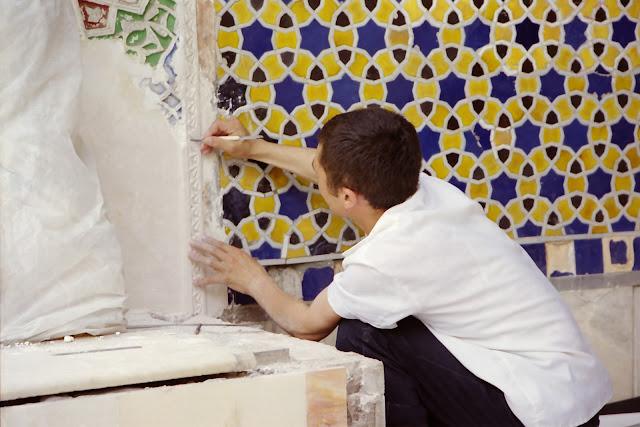 Ouzbékistan, Tachkent, Musée des Arts décoratifs, artisan, © L. Gigout, 2001