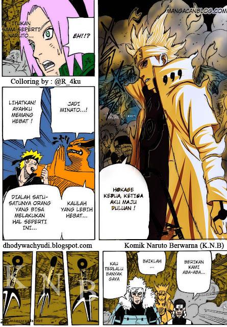 Komik Anime Jepang Online Berwarna Naruto 631 Team 7