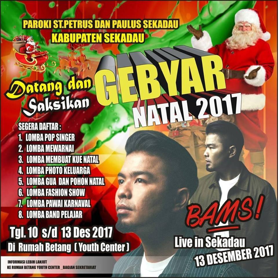 Vokalis Samsons Meriahkan Acara Gebyar Natal 2017 Di Sekadau