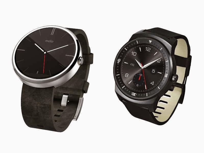 LG G Watch R and Motorola Moto 360