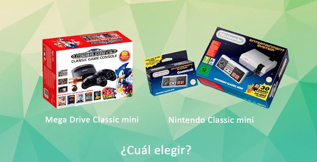 consola, videoconsola, retro, mini, classic, clasica, nueva, versión, juegos, compatibilidad, precio, mando, controles, salidas, hdmi, audio, video, cuántos juegos, preinstalados, televisor, cuál es mejor, sonic, nintendo, nes, sega, sony, mega, mega drive, drive, moda, infancia, controller, Wii, Wii u, gráficos, 8 bits, 16 bits, bits, inalámbrico, mandos inalámbricos, cartucho, ventajas, desventajas, cuál elegir