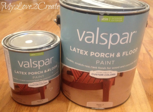 Valspar Latex porch and floor paint
