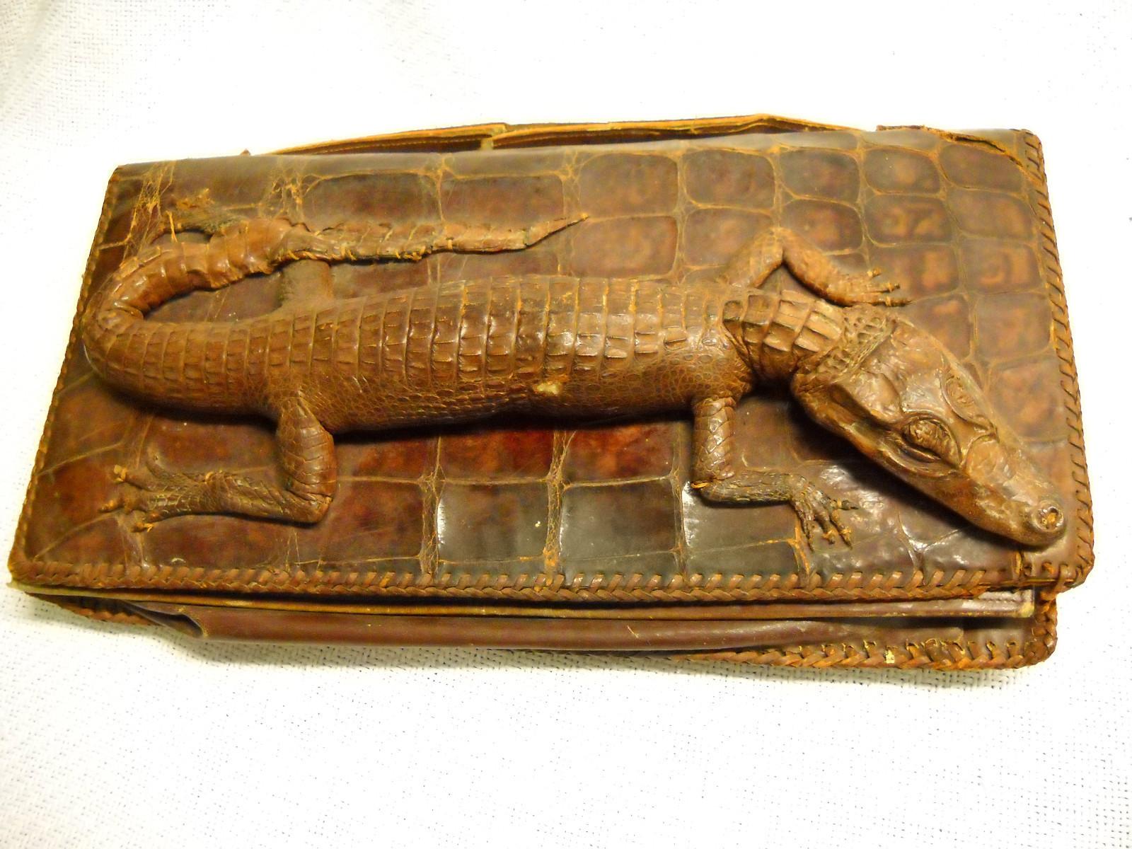Vintage Alligator Purse Hand Bag Rare