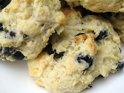 blueberry cottage cheese biscuits