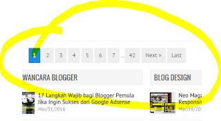 Cara Membuat Navigasi Halaman (Page Navigation) dengan Nomor pada Blog