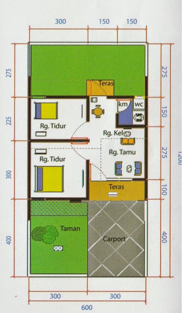 Denah Type 30 : denah, Design, Interior, Rumah, 30/72, SHREENAD