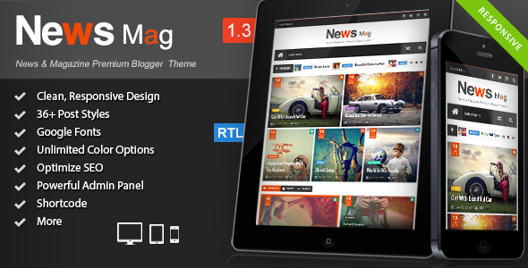 Jasa Pembelian News Mag - Responsive Magazine Blogger Template