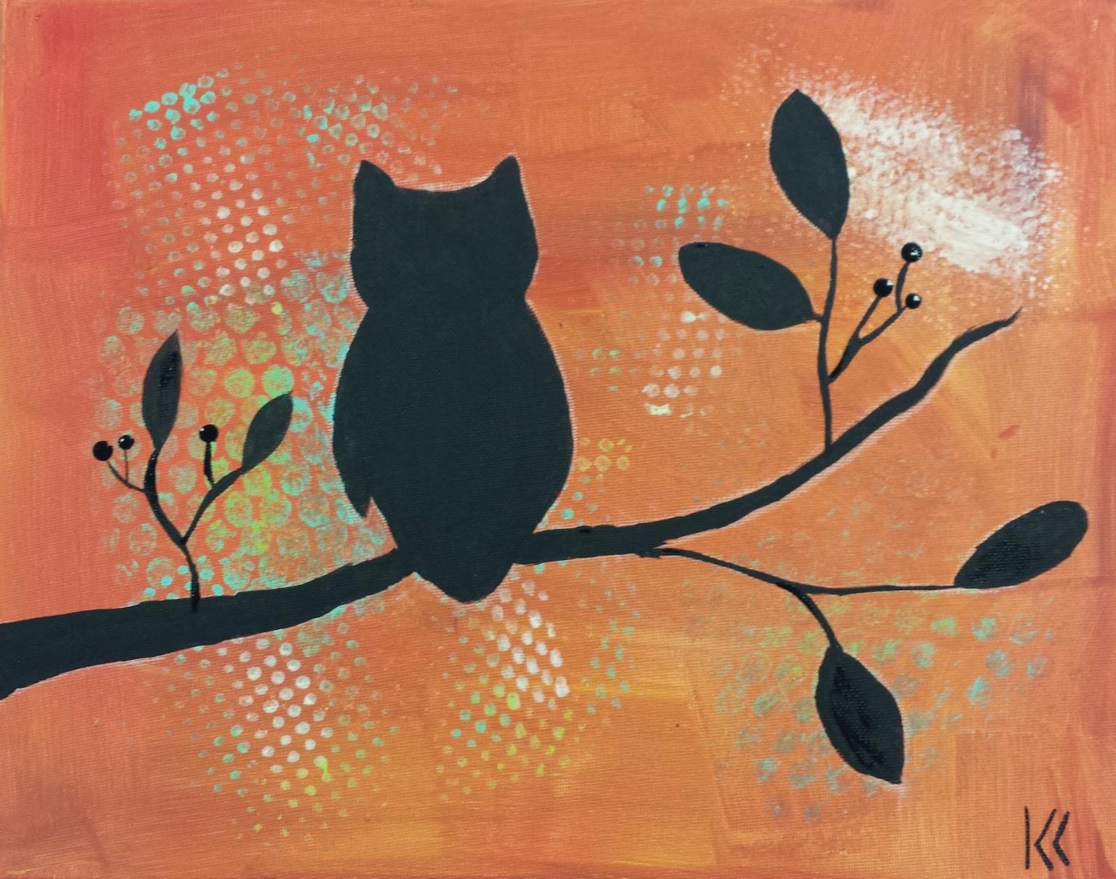 Angela Anderson Art Blog Owl Silhouette Paintings