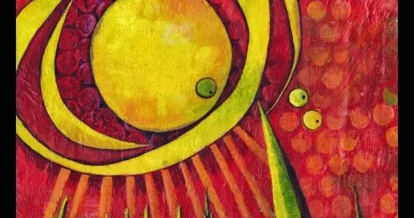 Glenda Mosher Art: Acrylic Mono Prints - 'Sun Spots' Series