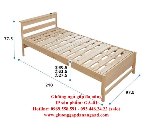 kích thước giường gấp đơn đa năng sang trọng