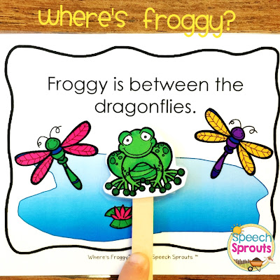 FREE Where's Froggy? Following directions with positional concepts. Exclusively for my e-mail subscribers to Speech Sprouts News. Sign up on my blog www.speechsproutstherapy.com