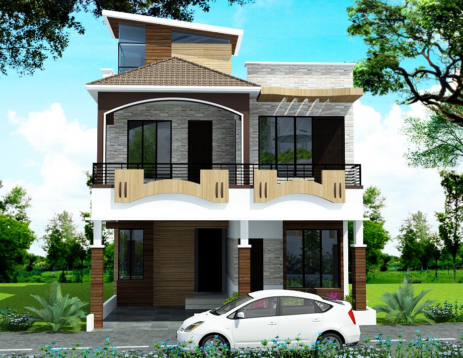 Gharplnner has developed Duplex house elevation simplex