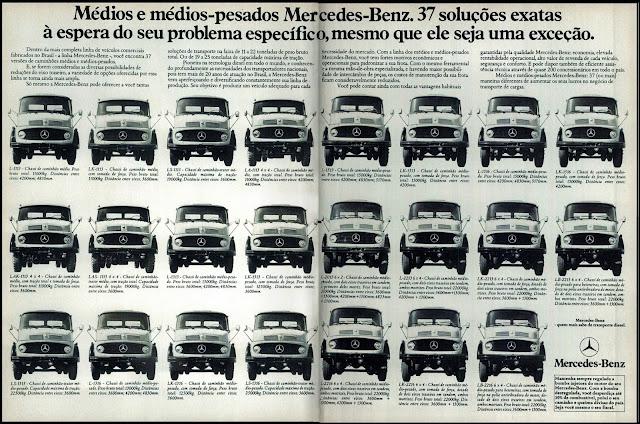 propaganda caminhões médios e médios pesados Mercedes-Benz - 1977