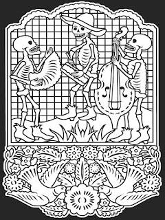 Mandala calaveras dia de los muertos