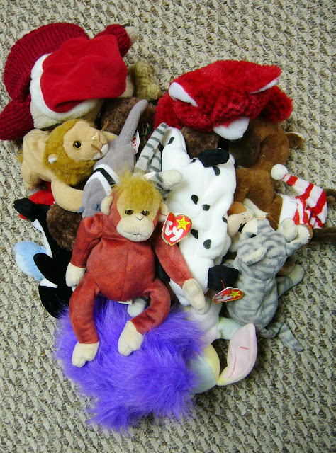 Stuffed Animals for an Operation Christmas Child shoebox packing party.