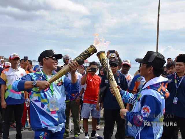 Suko Pranoto dan Endro Satoto Partisipasi di Pawai Obor Asian Para Games 2018
