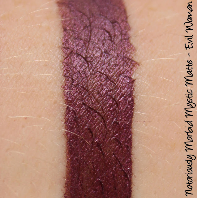 Notoriously Morbid Mystic Matte - Evil Woman Swatches & Review
