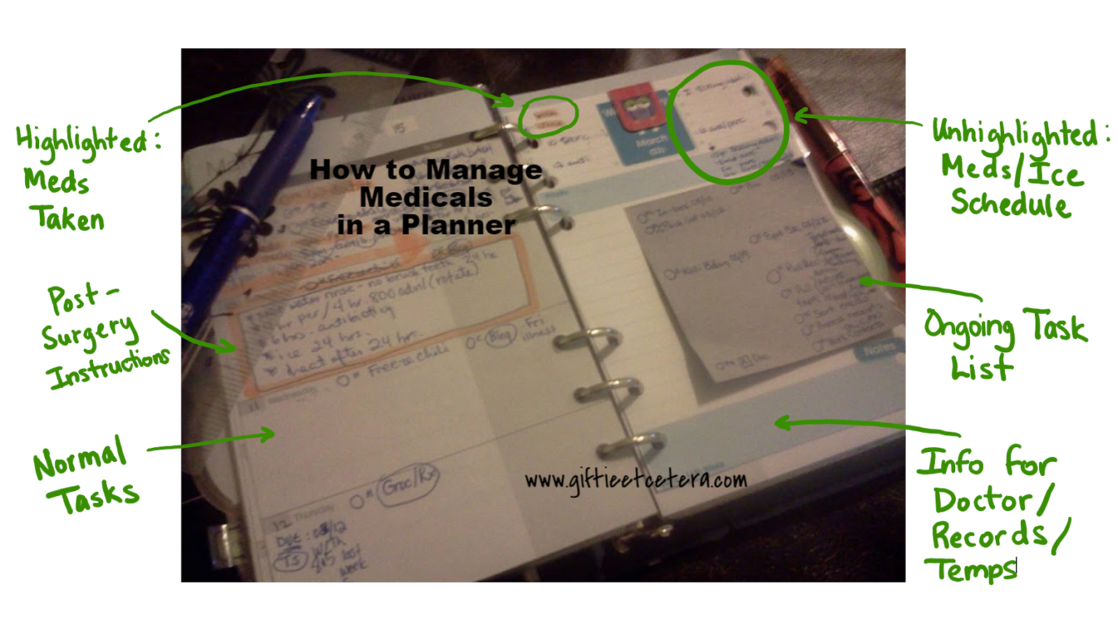 surface pro 3, one note, medical, daily docket, planner