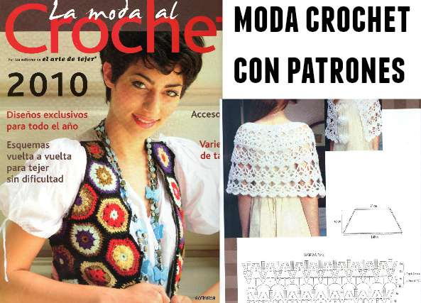 Moda al crochet revista con patrones