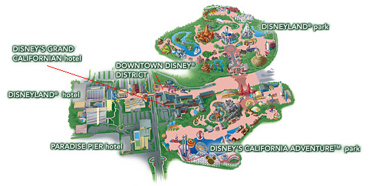 Map Of California Disney.Disney Family 411 Disneyland Resort Area Map