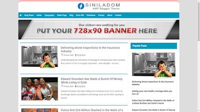 Siniladom AMP Blogger Template