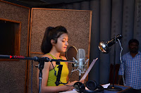 Actress Catherine Tresa Pos during Self Dubbing for Gautham Nanda Movie  0028.JPG
