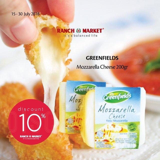 Ranch Market - Diskon 10% Beli Mozzarella Cheese 200gr (s.d 30 Juli 2018)